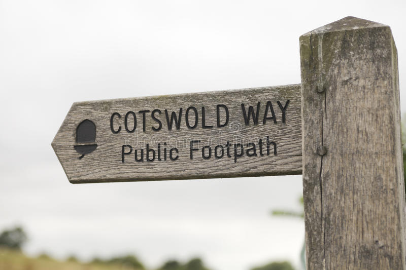 Download Signpost cotswold way stock photo. Image of wood, rural - 15489058
