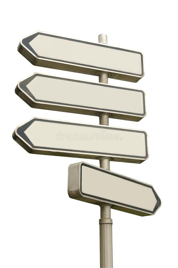 Signpost de quatro vias ilustração royalty free