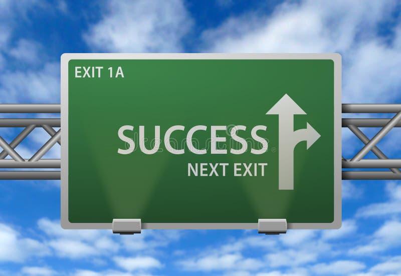 Signpost do sucesso ilustração royalty free