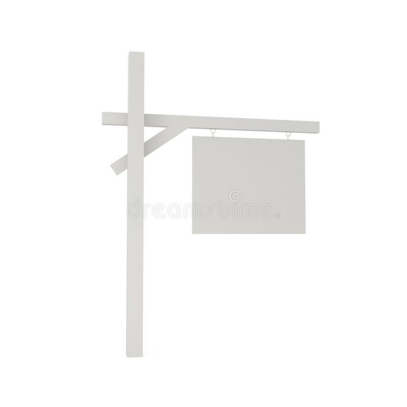 Signpost em branco isolado no branco ilustração stock