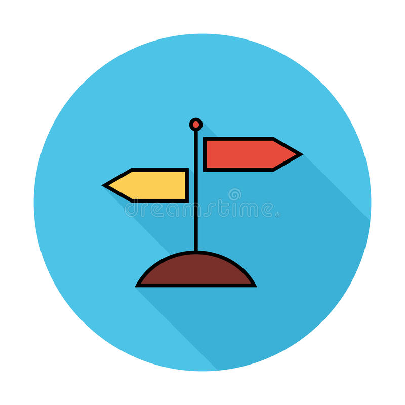 Signpost. Flat icon for mobile and web applications. Vector illustration royalty free illustration