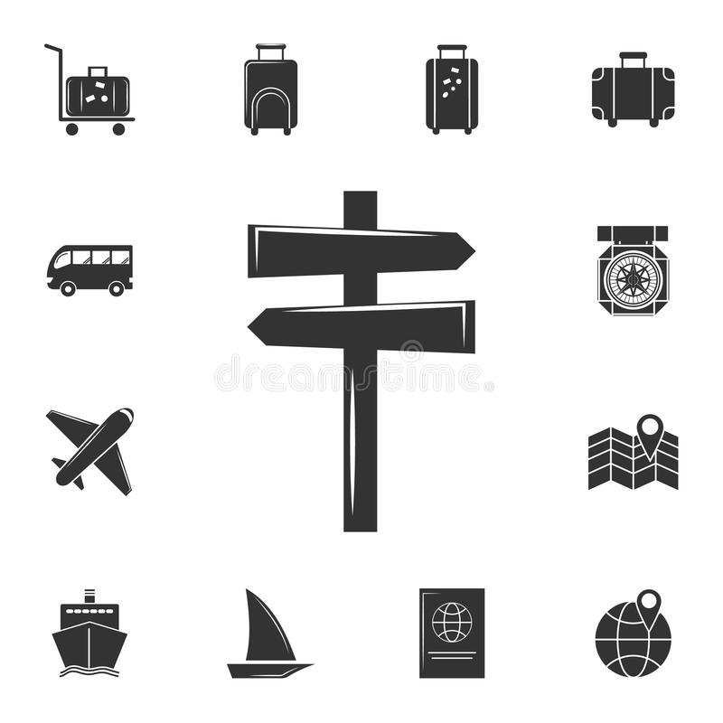 signpost icon. Detailed set of travel icons. Premium graphic design. One of the collection icons for websites, web design, mobile vector illustration