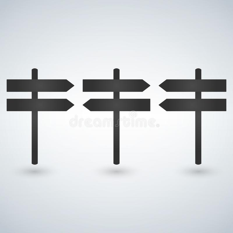 Signpost icon, flat design, isolated on white background. Signpost icon, flat design, isolated on white background vector illustration