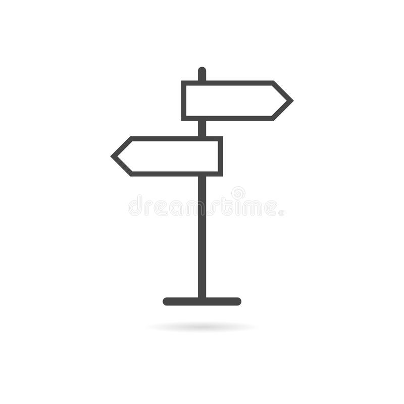 Signpost icon or logo line art style. Vector icon vector illustration