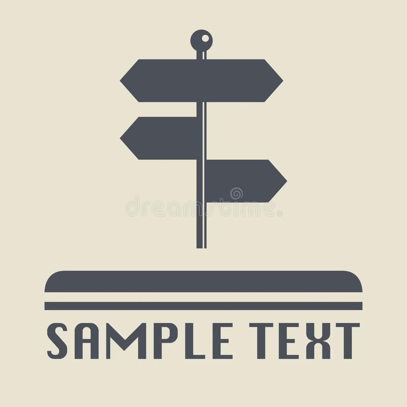 Signpost icon or sign. Vector illustration vector illustration