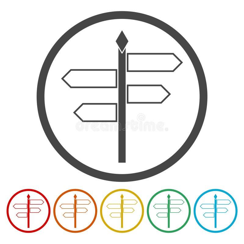 Signpost icon. Simple vector icon vector illustration