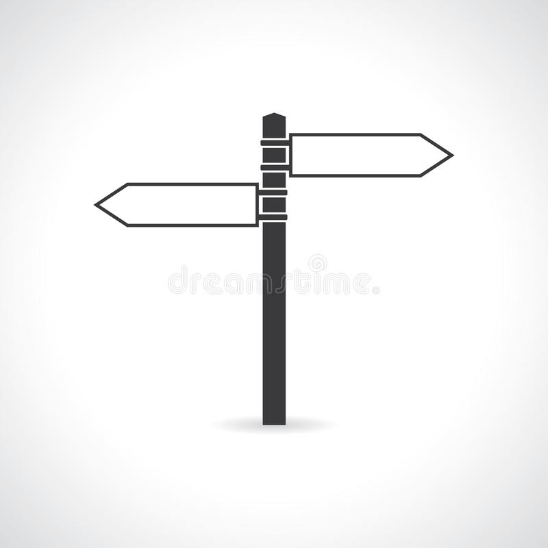 Signpost. Icon of signpost. vector. eps10 stock illustration