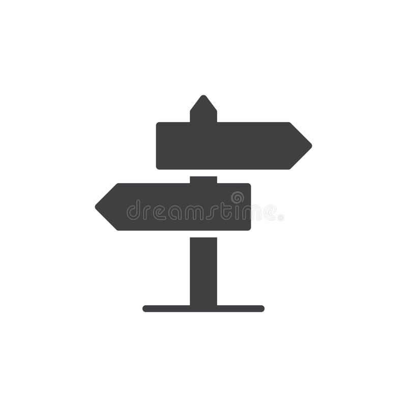 Signpost icon vector. Filled flat sign, solid pictogram isolated on white. Guidepost symbol, logo illustration. Pixel perfect vector graphics vector illustration