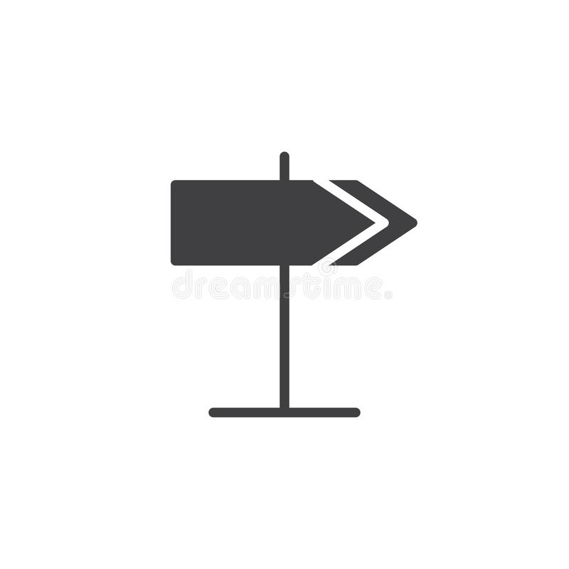 Signpost icon vector. Filled flat sign, solid pictogram isolated on white. Road sign symbol, logo illustration vector illustration