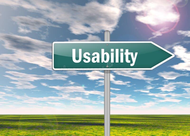 Signpost Illustration Usability. Signpost Illustration Image with Usability wording royalty free illustration