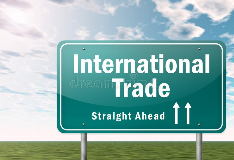 Signpost International Trade. Signpost with International Trade wording royalty free illustration