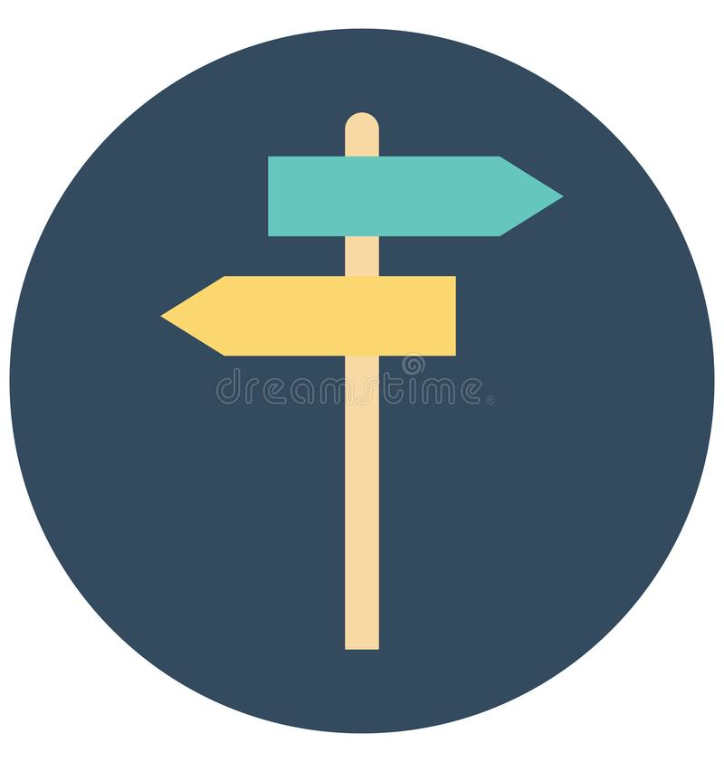 Signpost Isolated Vector icon that can be easily edit or modified vector illustration