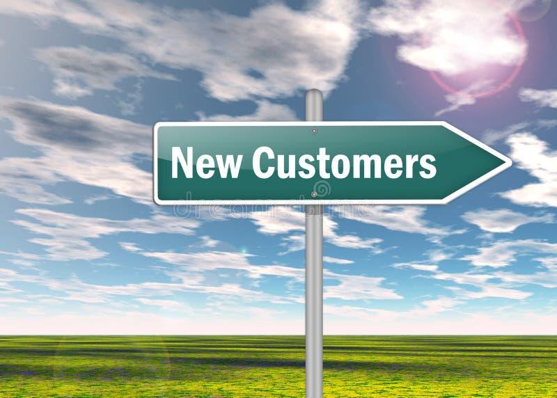 Signpost New Customers vector illustration