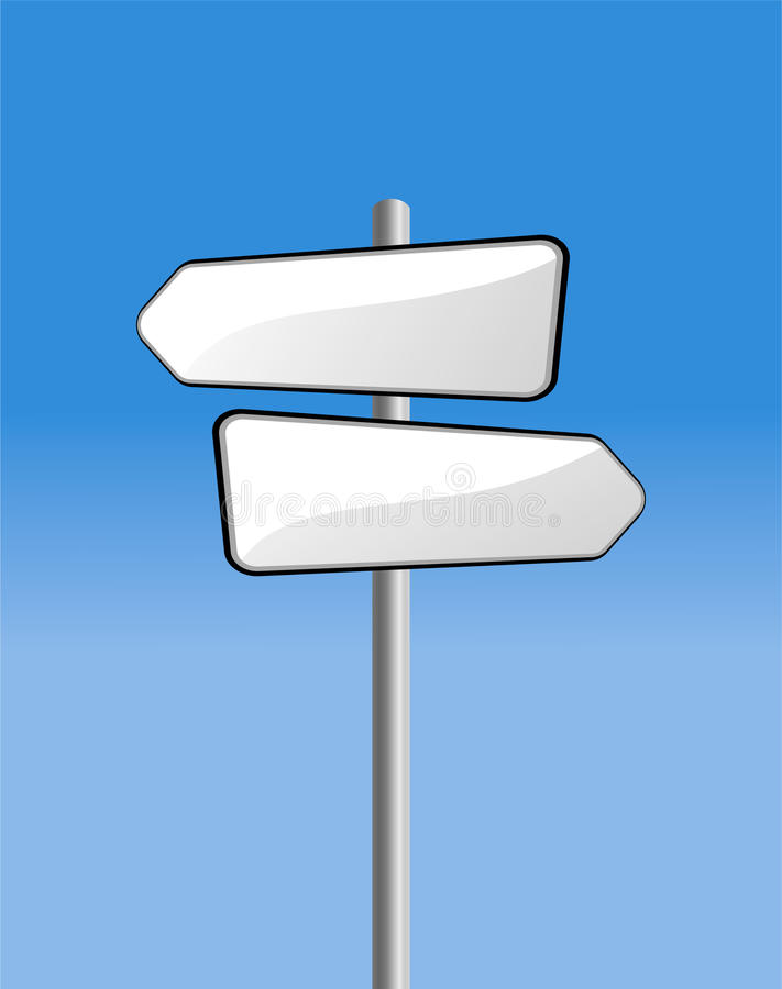 Signpost no céu azul ilustração royalty free