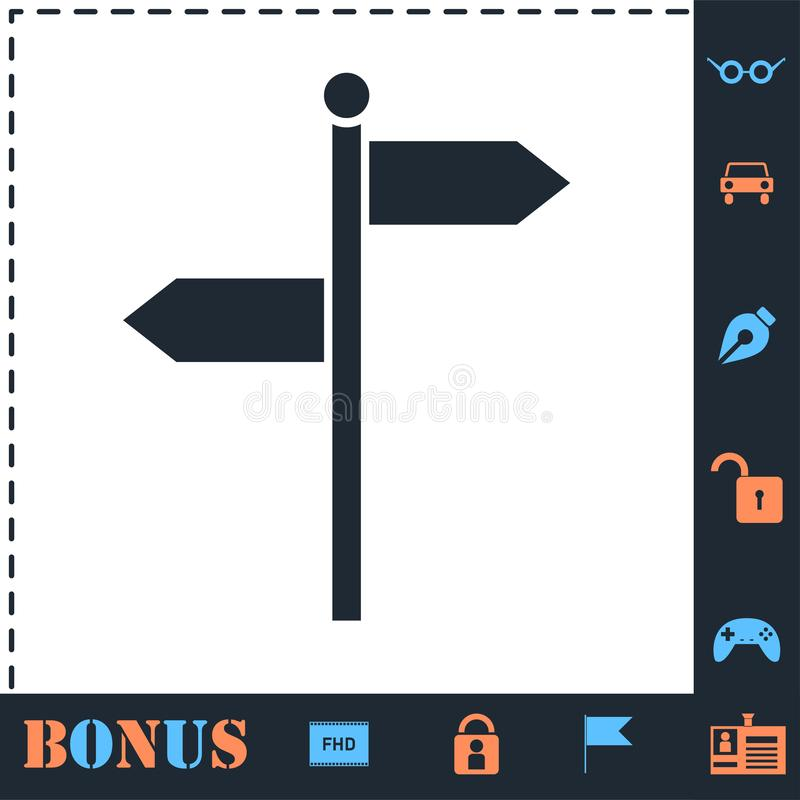 Signpost icon flat. Signpost. Perfect icon with bonus simple icons vector illustration