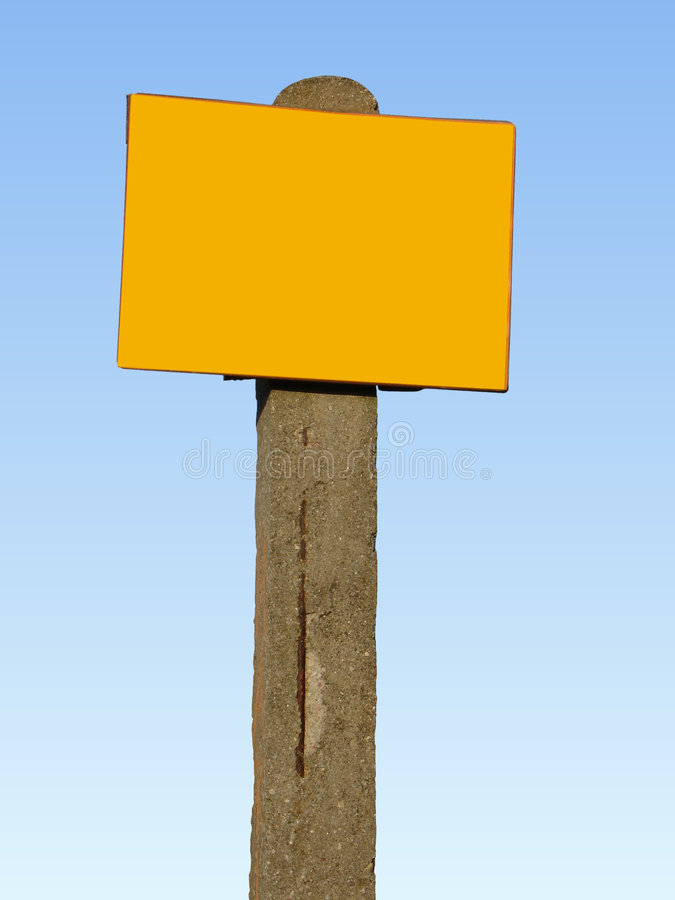 Signpost -  ready to fill in