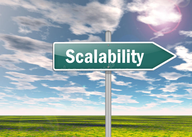 Signpost Scalability. Illustration Signpost with Scalability wording royalty free illustration