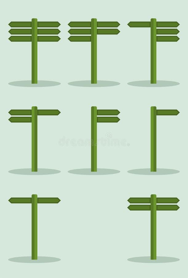 Signpost set. Set of signpost illustration vector vector illustration