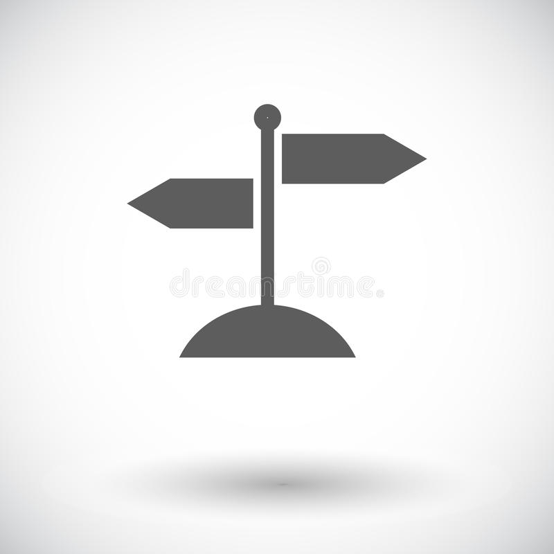 Signpost royalty free illustration