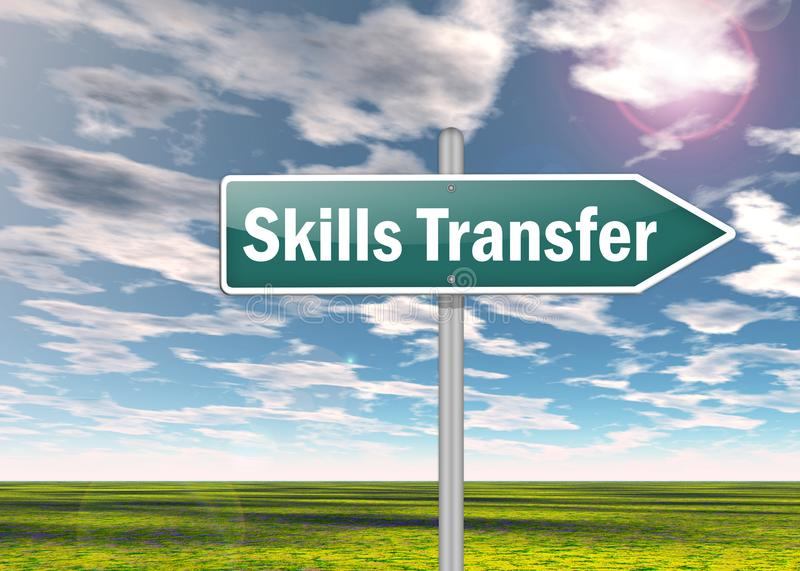 Signpost Skills Transfer vector illustration