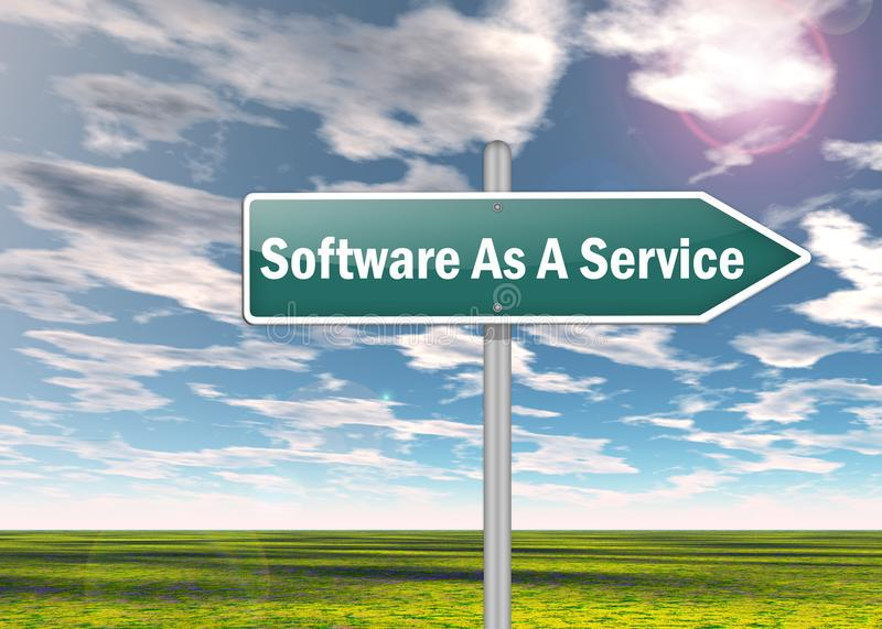 Signpost Software As A Service. Signpost with Software As A Service wording royalty free illustration