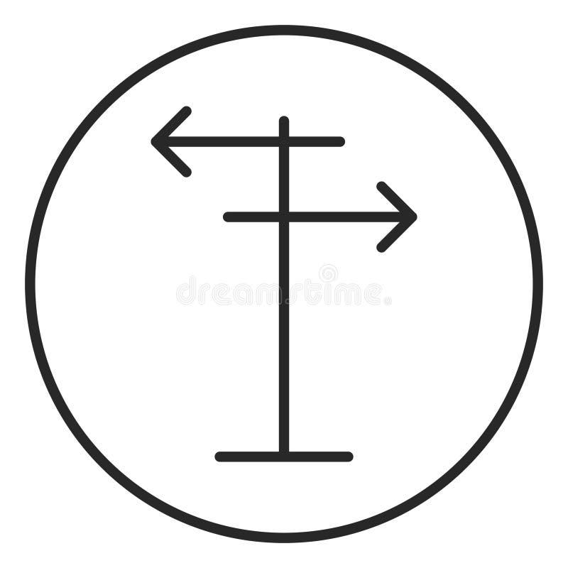 Signpost stroke icon, logo illustration. Stroke high quality symbol. Signpost stroke icon, logo illustration stock illustration