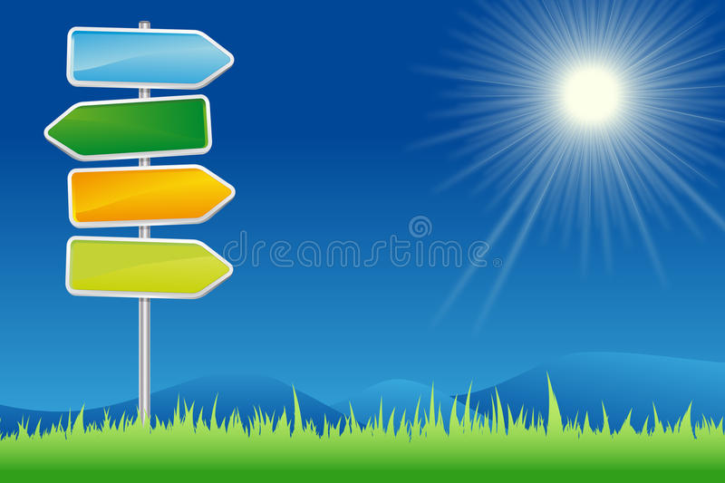 Signpost In Summer Countryside Stock Images