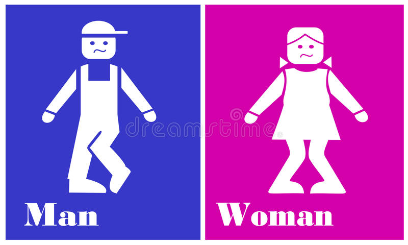 Signpost toilet vector illustration