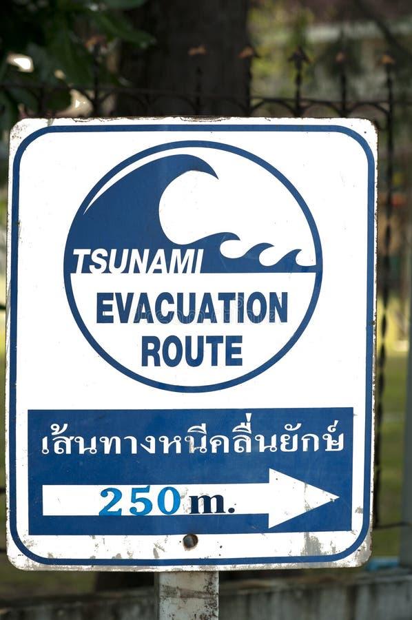 Download Signpost Of A Tsunami Shelter Stock Image - Image: 35471717