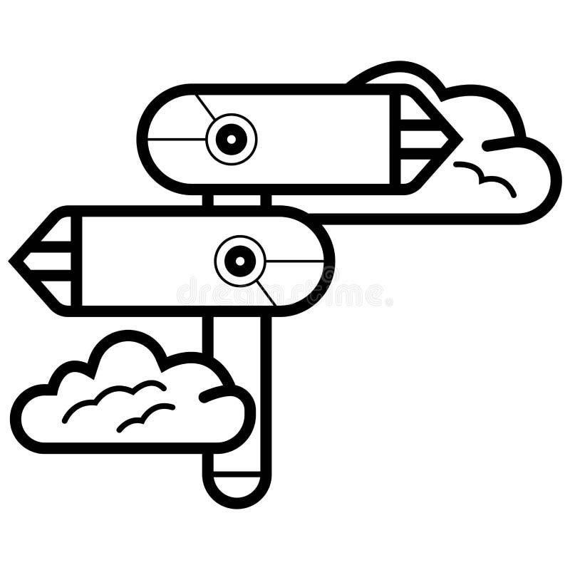 Signpost vector icon. Illustration photo stock illustration