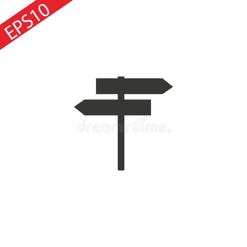 Signpost vector icon, flat design best vector icon. EPS 10 stock illustration