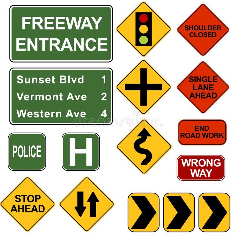 Signposts da estrada ilustração do vetor