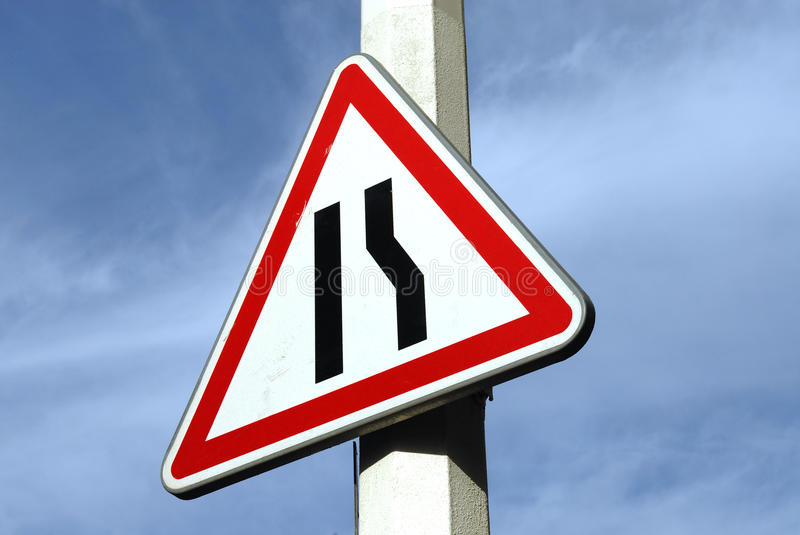 Signs. Turning road signs pointing in different directions royalty free stock photos