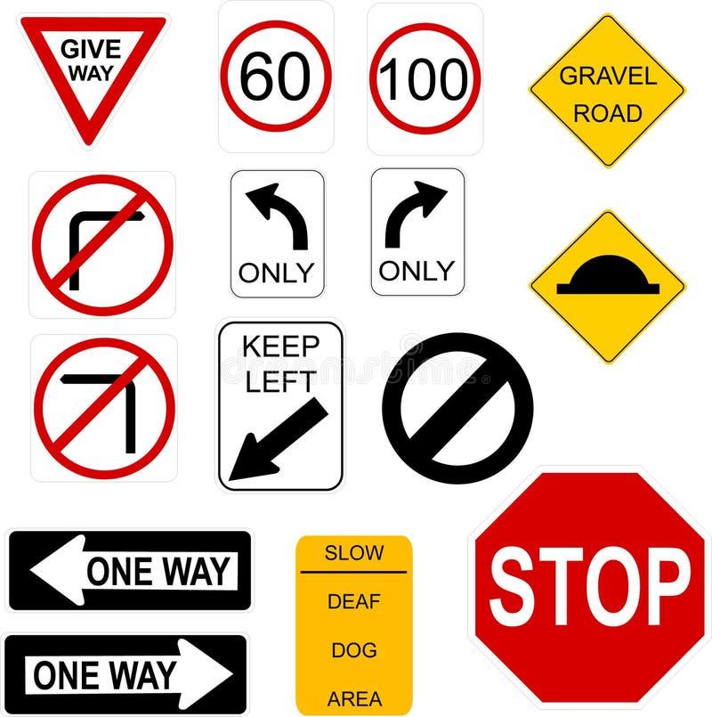Signs stock illustration