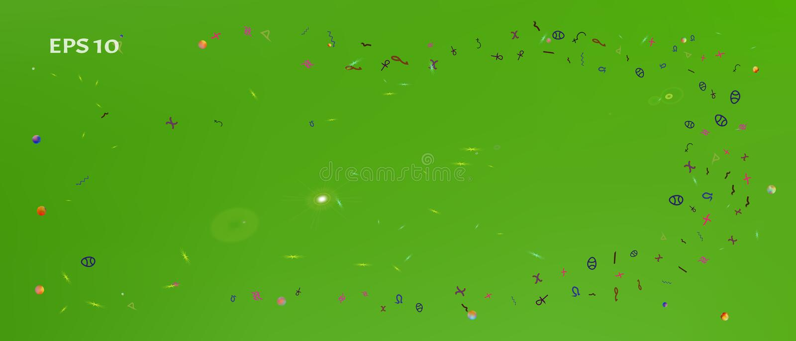 Signs abstract ultra wide space background stock illustration
