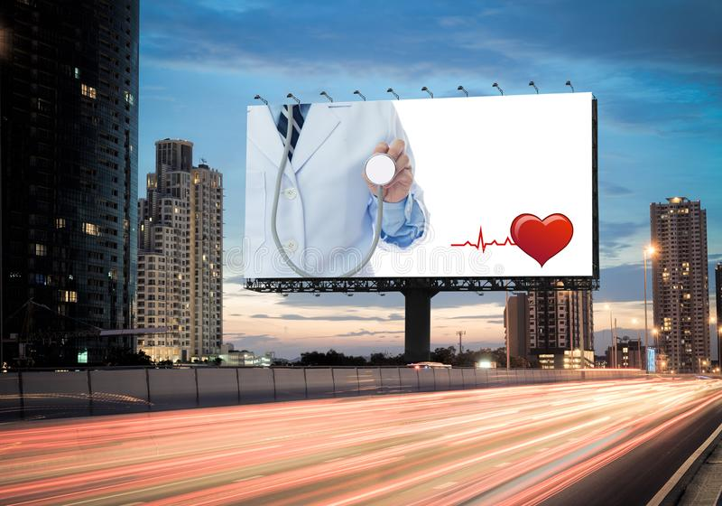 Billboard health royalty free stock photos