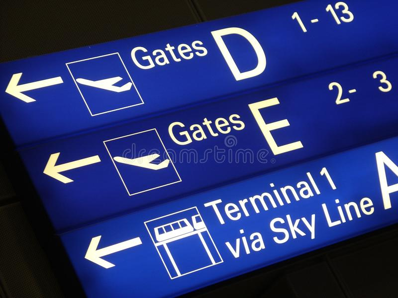 Download Signs in airport stock image. Image of chart, sign, passenger - 11722475