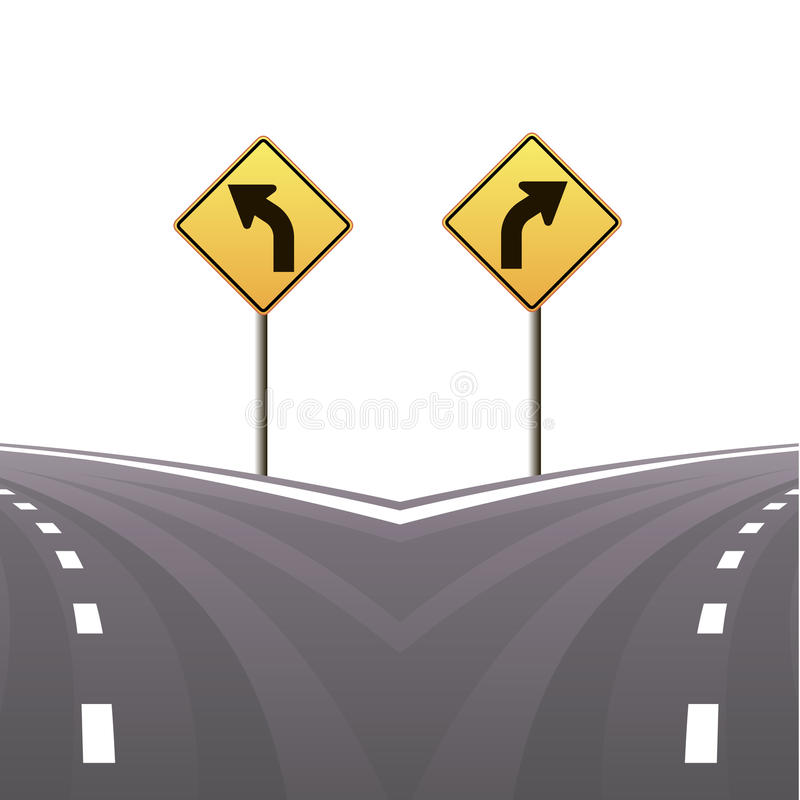 Download Signs And Asphalted Road.Vector Illustration Stock Vector - Image: 30796333