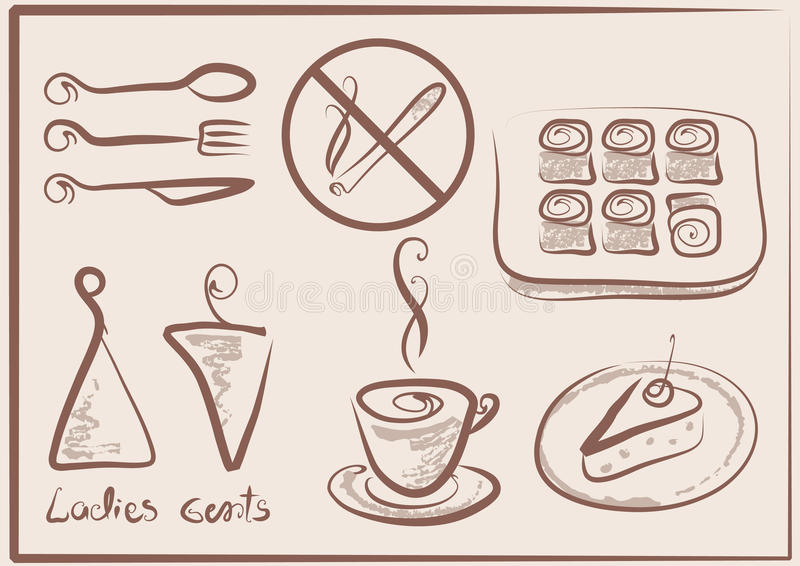 Signs for cafe