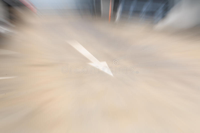 Signs direct traffic. Making Motion Blur stock photos