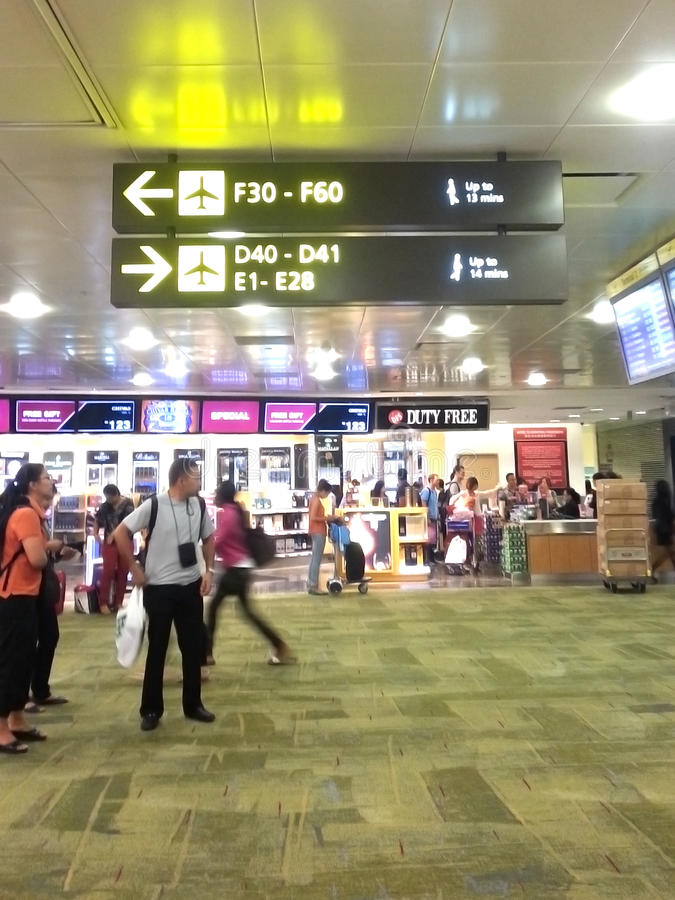 Free Signs For Gate In The Airport Stock Images - 31765474