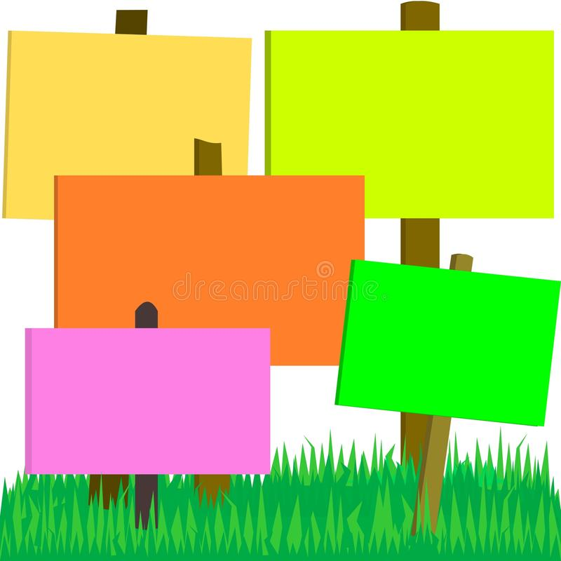 Signs On The Grass Royalty Free Stock Images