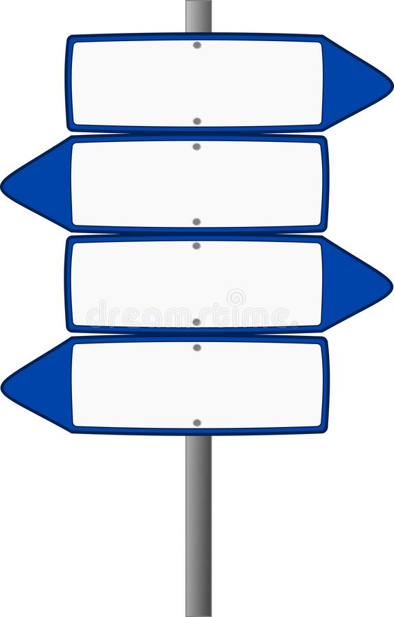 Signs icon with different directions royalty free stock image
