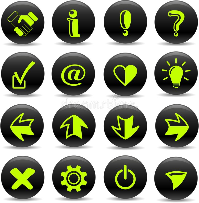 Download Signs icons stock vector. Image of bulb, error, button - 8918776