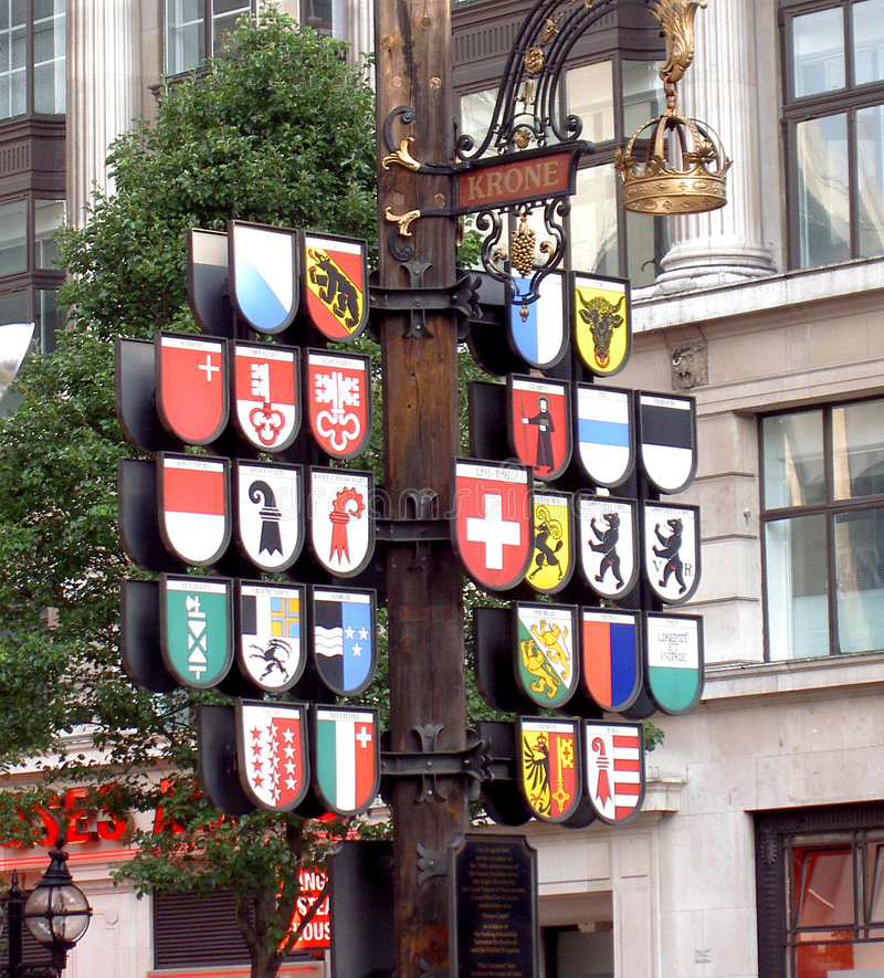 Signs in London royalty free stock image