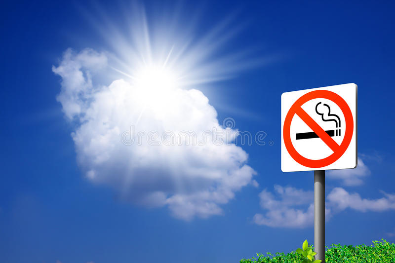 Signs No smoking. royalty free stock photo