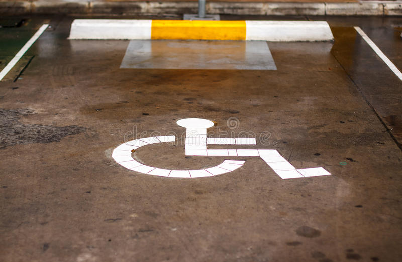 Signs for people with disabilities stock photos
