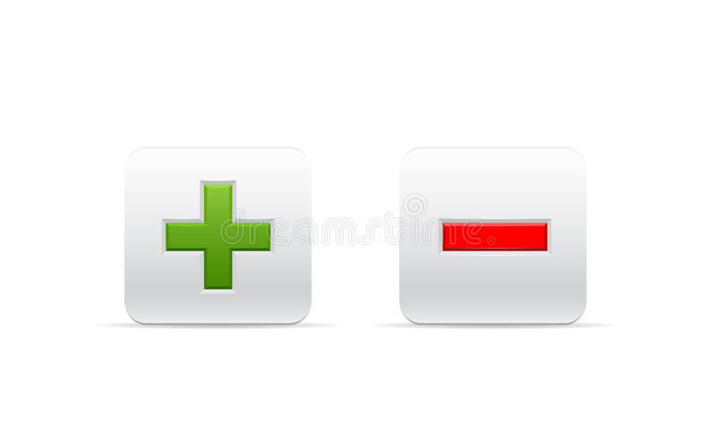 Download Signs of plus and minus stock illustration. Image of graphic - 30558132