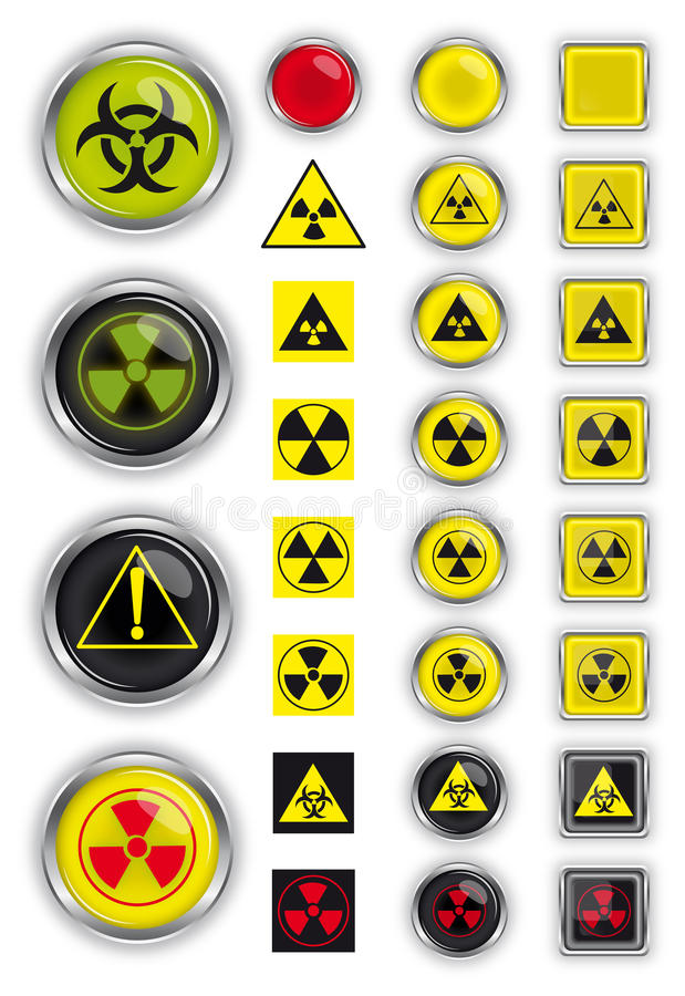 Signs of radiation royalty free illustration
