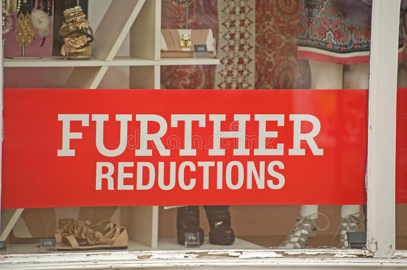 Download Signs Of Recession; Further Price Reductions. Stock Photo - Image: 15157170